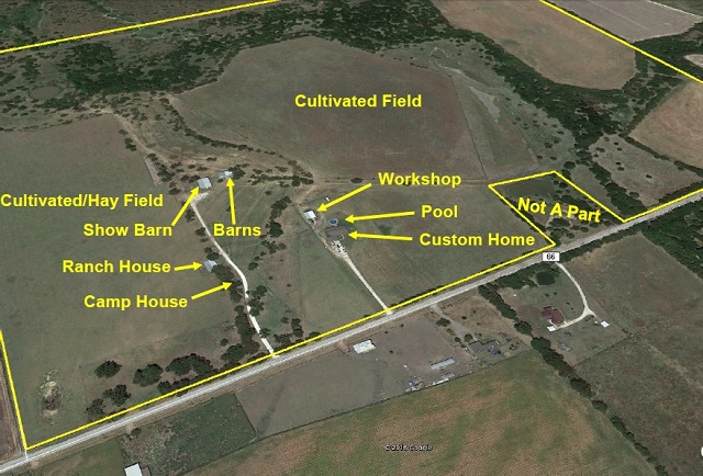 166 Acres Horse, Cattle & Hunting Land with Ranch Houses & Show Barn
